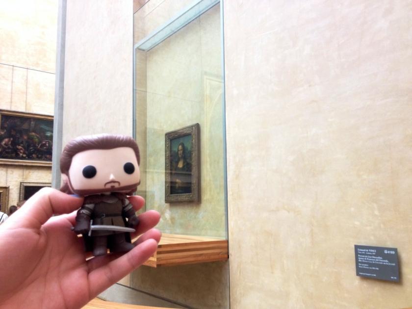 Robb Stark visits the Mona Lisa