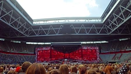 The stadium at the start