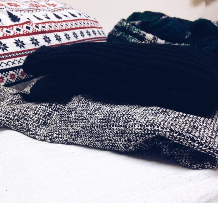 Two of the assortment of turtle-necks I currently own.