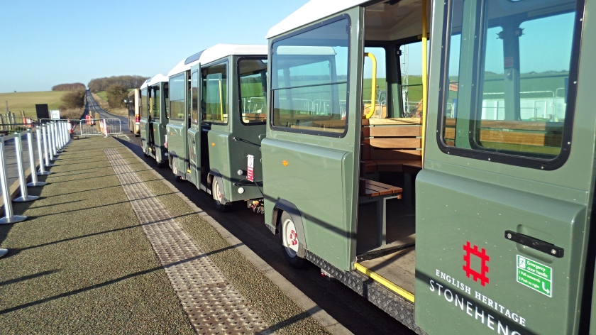 The 'Land Train' we took up to Stonehenge