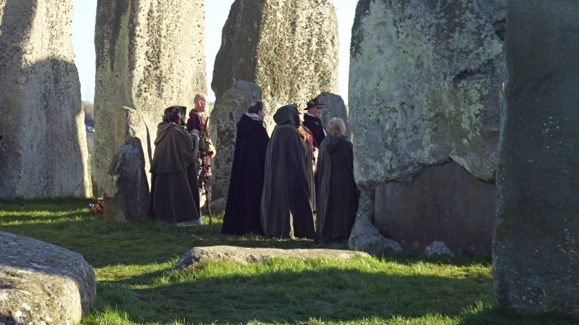 A sun ritual at Stonehenge