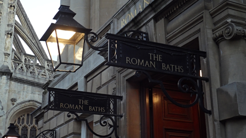 The entrance to the Roman Baths.