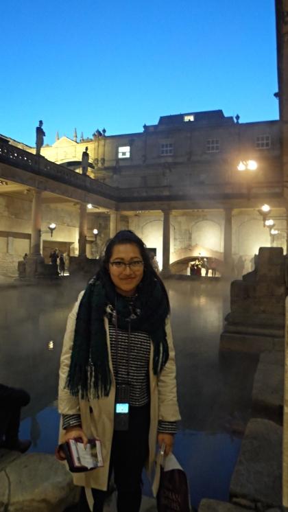 At the Roman Baths in Bath, England.