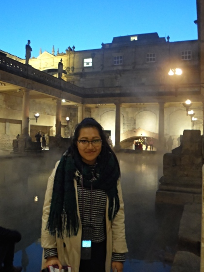 At the Roman Baths in Bath, England.