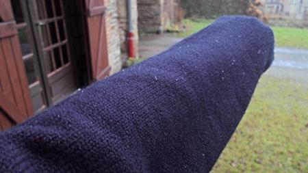 Tiny snowflakes on my jumper.