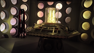 Retro interior of the TARDIS