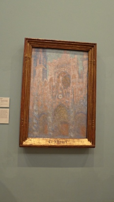 """Rouen Cathedral: Setting Sun"" (1892-4) by Claude Monet"
