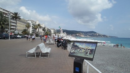 View of the beach along the promenade
