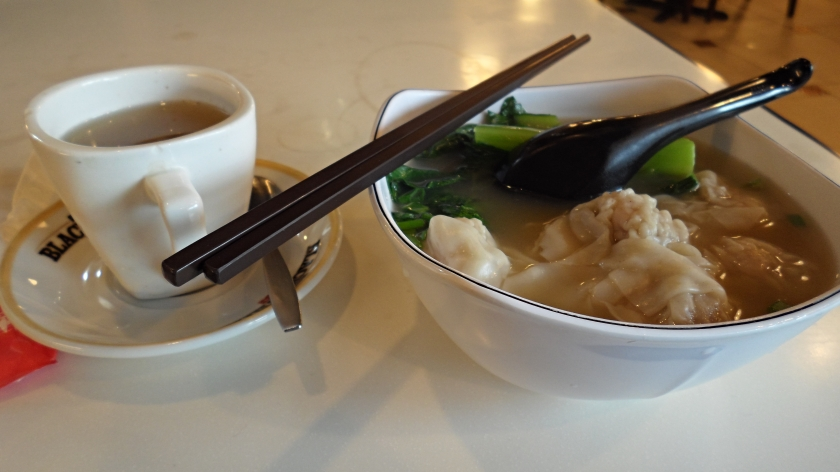 Won Ton soup and kumquat tea for lunch