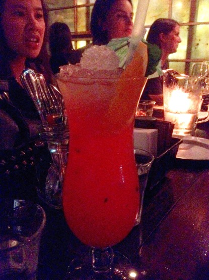 Hurricane cocktail at Orleans, Auckland.