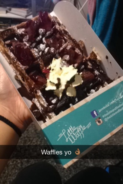 Waffles from The Little Waffle Shop