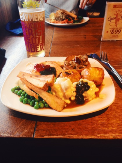 Sunday Roast at the Taf