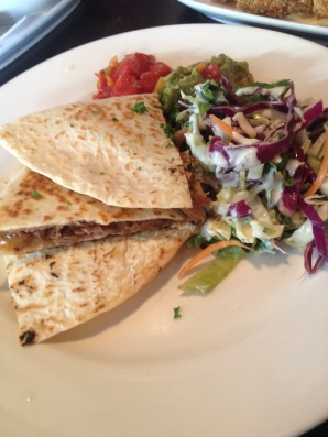 Quesadillas and slaw at Fidel's