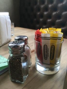 Crayola-style sugar packets