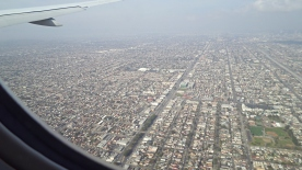 Flying into LA