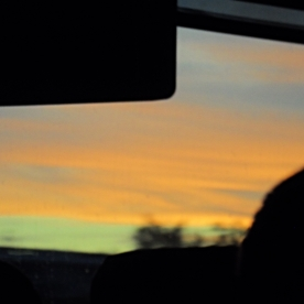 Hazy LA sunset