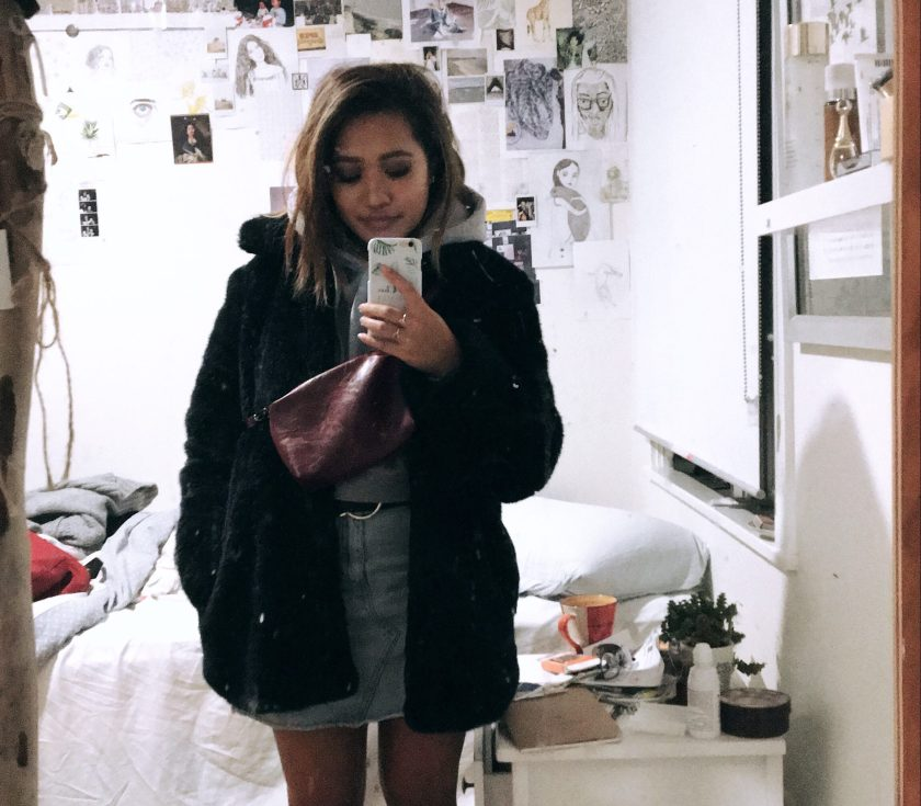 winter fashion faux fur